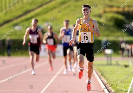 Stock Picture of Mens 1500m . Darragh McElhinney of UCD AC