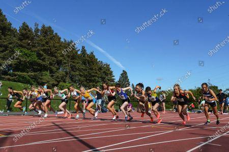 Editorial image of Belfast Irish Milers Meet, Mary Peters Track, Belfast, Northern Ireland - 29 May 2021