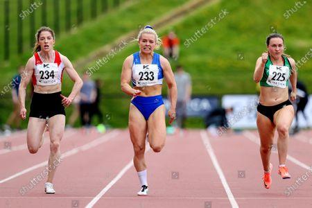 Women's 100m. St. Laurence O'Toole's Molly Scott winning the women's 100m