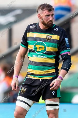 Tom Wood of Northampton Saints during the Gallagher Premiership Rugby match between Northampton Saints and Wasps at Franklins Gardens, Northampton