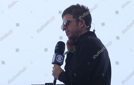 British singer and songwriter Noel Gallagher interviewed before the UEFA Champions League final between Manchester City and Chelsea FC in Porto, Portugal, 29 May 2021.