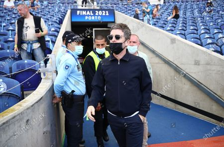 British singer and songwriter Noel Gallagher inside the stadium before the UEFA Champions League final between Manchester City and Chelsea FC in Porto, Portugal, 29 May 2021.