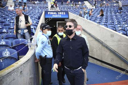 Stock Image of Noel Gallagher arrives prior to the start of the Champions League final soccer match between Manchester City and Chelsea at the Dragao Stadium in Porto, Portugal