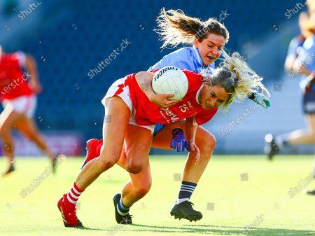Cork vs Dublin. Dublin's Martha Byrne tackles Cork's Orla Finn