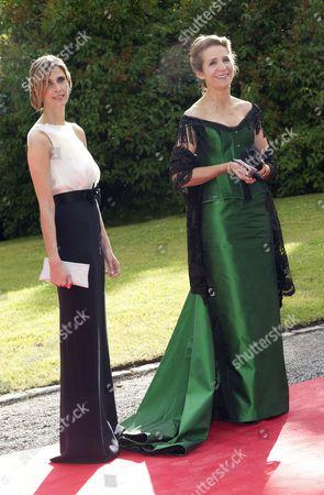 Princess Rosario of Bulgaria and Princess Elena of Spain