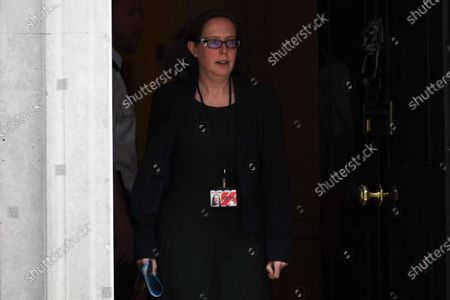 Stock Image of Natalie Evans, leader of the House of Lords  leaves 10 Downing Street after a cabinet meeting on February 25, 2020 in London, England.