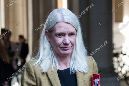 Conservative Party Chairman and Minister without Portfolio Amanda Milling returns to Downing Street in central London after attending weekly Cabinet meeting at the Foreign Office on 20 October, 2020 in London, England.