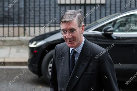 Lord President of the Council and Leader of the House of Commons Jacob Rees-Mogg arrives in Downing Street in central London to attend Cabinet meeting held at the Foreign Office on 13 October, 2020 in London, England.