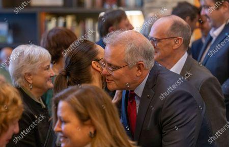 Australian Prime Minister Scott Morrison (R) and New Zealand Prime Minister Jacinda Ardern hongi during the Powhiri (traditional Maori greeting) at the annual Australia-New Zealand Leaders' Meeting at the Rees Hotel in Queenstown, New Zealand, 30 May 2021.
