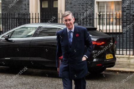 Lord President of the Council and Leader of the House of Commons Jacob Rees-Mogg arrives in Downing Street in central London to attend Cabinet meeting held at the Foreign Office on 03 November, 2020 in London, England.