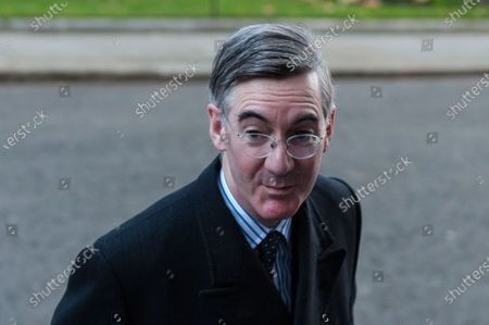 Lord President of the Council and Leader of the House of Commons Jacob Rees-Mogg arrives in Downing Street in central London to attend Cabinet meeting held at the Foreign Office on 01 December, 2020 in London, England. Today MPs in the House of Commons will vote on the new tiered Coronavirus restrictions as the four week lockdown across England comes to an end.