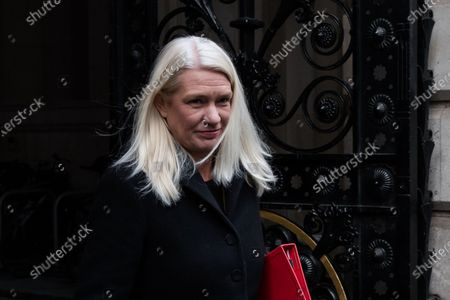 Conservative Party Chairman and Minister without Portfolio Amanda Milling leaves Downing Street in central London after attending weekly Cabinet meeting held at the Foreign Office on 08 December, 2020 in London, England. The talks on the future partnership between the UK and the EU continue in Brussels this week with just over three weeks remaining until the end of the Brexit transition period, when the UK is set to leave the single market and customs union with or without a trade deal.