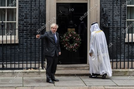 Editorial picture of Boris Johnson Meets UAE Crown Prince Sheikh Mohammed Bin Zayed Al Nahyan In Downing Street, London, United Kingdom - 10 Dec 2020