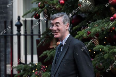 Lord President of the Council and Leader of the House of Commons Jacob Rees-Mogg arrives in Downing Street in central London to attend Cabinet meeting held at the Foreign Office on 15 December, 2020 in London, England. The UK and EU leaders have agreed to carry on post-Brexit trade talks and vowed to go 'extra mile' to try and reach a deal, with less than three weeks until the end of the transition period.