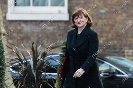 Secretary of State for Digital, Culture, Media and Sport Baroness Nicky Morgan arrives in Downing Street in central London to attend a Cabinet meeting on 11 February, 2020 in London, England. Prime Minister and his government are expected to give a go-ahead to the HS2 high-speed rail project despite concerns over its cost, which is now estimated at £106 billion, and the potential environmental impact of its construction.
