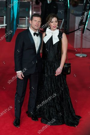Dee Koppang and Dermot O'Leary (L) attend the EE British Academy Film Awards ceremony at the Royal Albert Hall on 02 February, 2020 in London, England.
