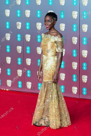 Tracy Ifeachor attends the EE British Academy Film Awards ceremony at the Royal Albert Hall on 02 February, 2020 in London, England.