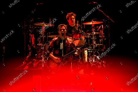 Welsh rock band Stereophonics perform on stage at the O2 Arena in London on March 6, 2020. The band consists of Kelly Jones (lead vocals, lead guitar, keyboards), Richard Jones (bass guitar, piano, backing vocals), Adam Zindani (rhythm guitar, backing vocals), Jamie Morrison (drums, percussion).