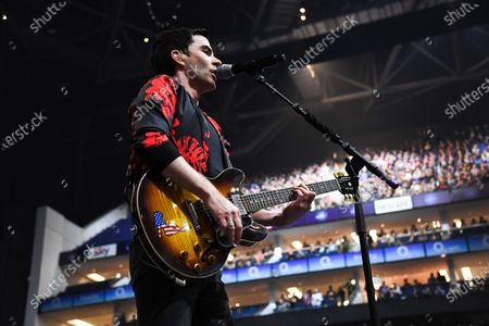 Stock Photo of Welsh rock band Stereophonics perform on stage at the O2 Arena in London on March 6, 2020. The band consists of Kelly Jones (lead vocals, lead guitar, keyboards), Richard Jones (bass guitar, piano, backing vocals), Adam Zindani (rhythm guitar, backing vocals), Jamie Morrison (drums, percussion).