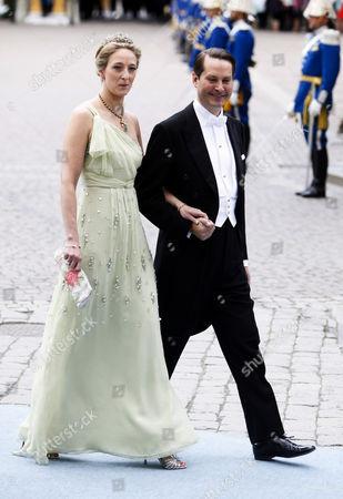 Stock Image of Princess Alexandra of Sayn-Wittgenstein-Berleburg and Count Jefferson von Pfeil und Klein-Ellguth
