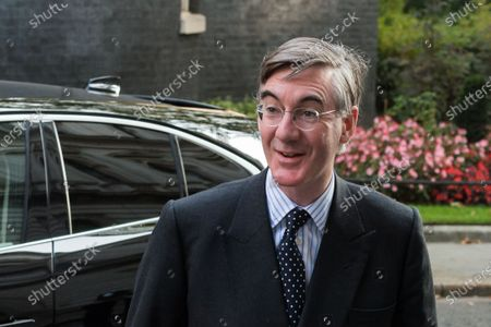 Lord President of the Council and Leader of the House of Commons Jacob Rees-Mogg arrives in Downing Street in central London to attend Cabinet meeting temporarily held at the Foreign Office to comply with social distancing guidelines due to the ongoing coronavirus pandemic, on 15 September, 2020 in London, England.