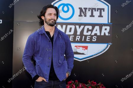Actor Milo Ventimiglia is introduced before the Indianapolis 500 auto race at Indianapolis Motor Speedway in Indianapolis, . Ventimiglia is the honorary start and will wave the green flag to start the race
