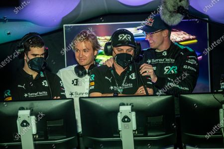 Nico Rosberg, founder and CEO, Rosberg X Racing, and the team in the Command Centre during the 2021 Extreme E Ocean X Prix