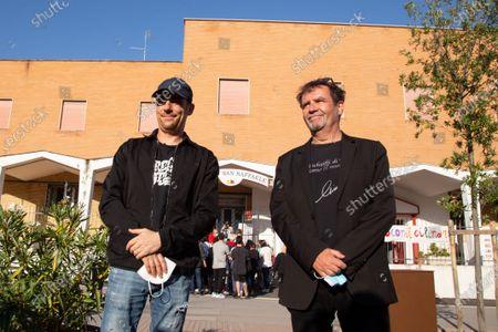 Editorial picture of Elio Germano against closure of San Raffaele Theater, Rome, Italy - 30 May 2021
