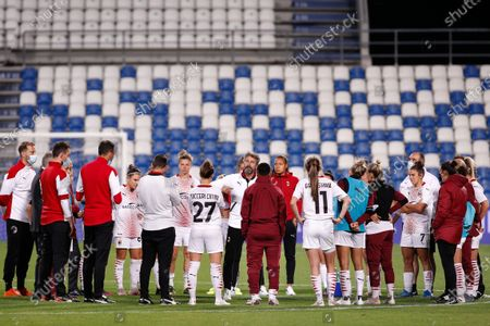 Italy, Reggio Emilia, may 30 2021: Maurizio Ganz (Milan manager) talk after losing at the end of football match AC MILAN vs AS ROMA, Final Women Coppa Italia, Mapei stadium