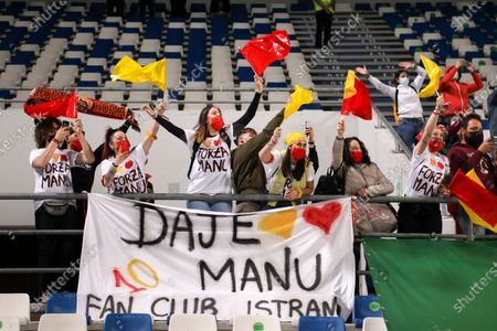 Italy, Reggio Emilia, may 30 2021: as Roma fans in the stands during football match AC MILAN vs AS ROMA, Final Women Coppa Italia, Mapei stadium