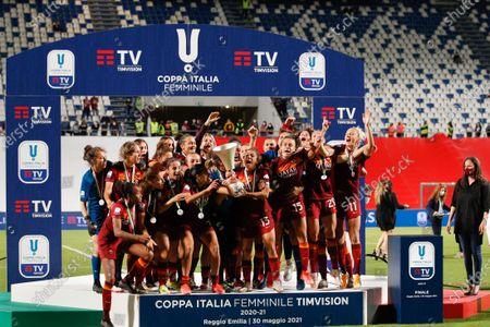 Editorial image of AC Milan vs AS Roma Final Women Coppa Italia 2021 at Mapei stadium, Reggio Emilia, Italy - 30 May 2021