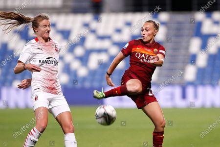 Editorial photo of AC Milan vs AS Roma Final Women Coppa Italia 2021 at Mapei stadium, Reggio Emilia, Italy - 30 May 2021
