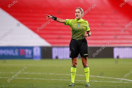 Italy, Reggio Emilia, may 30 2021: Maria Marotta (referee) in the second half during football match AC MILAN vs AS ROMA, Final Women Coppa Italia, Mapei stadium