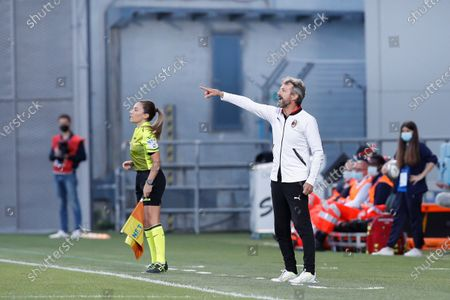 Italy, Reggio Emilia, may 30 2021: Maurizio Ganz (Milan manager) gives advices from the bench during football match AC MILAN vs AS ROMA, Final Women Coppa Italia, Mapei stadium