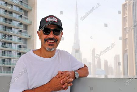 Stand-up comedian Maz Jobrani poses in Dubai, United Arab Emirates, . For Iranian-American Maz Jobrani, a stand-up show in Dubai marked the first time he's been in front of a major live audience overseas since the start of the coronavirus pandemic and he feels it