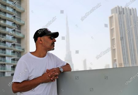 Stock Photo of Stand-up comedian Maz Jobrani poses in Dubai, United Arab Emirates, . For Iranian-American Maz Jobrani, a stand-up show in Dubai marked the first time he's been in front of a major live audience overseas since the start of the coronavirus pandemic and he feels it