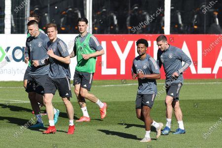 Niklas Süle #15 (Germany), Marcel Halstenberg #3 (Germany), Robin Koch #24 (Germany), Serge Gnabry #10 (Germany), Robin Gosens #20 (Germany), training camp, German national team, DFB, European Championship