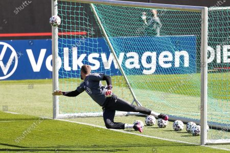 Kevin Trapp #22 (Germany) gets the goal, training camp, German national team, DFB, European Championship