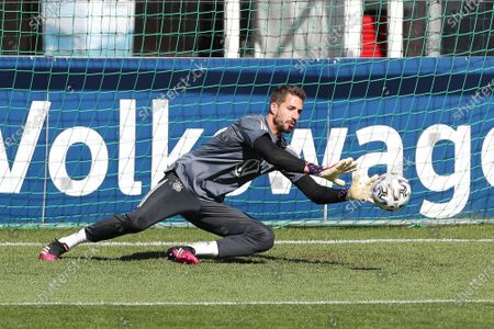 Goalkeeper campaign by Kevin Trapp #22 (Germany), training camp, German national team, DFB, European Championship