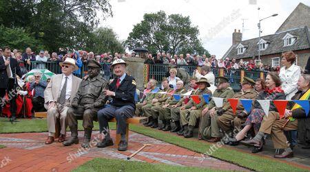 Dad's Army's creator, David Croft, Captain Mainwaring statue and Bill Pertwee