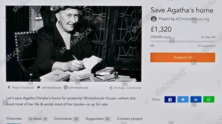 The crowdfunding page to raise funds to buy the property and transform it in to an arts centre.A crowdfunding page has been launched to raise funds to buy Winterbrook House, Agatha Christie's private home which she bought with her archaeologist husband, Sir Max Mallowan in 1934 & in which they lived for the rest of their livesA community group is working with the Mayor and Wallingford council to raise money to buy the property and transform it into an arts centre with a B&B. Winterbrook House is currently on the market for £2,750,000 with Savills Estate Agents.