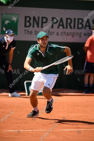 Gregoire Barrere (FRA) during his first round match during Roland Garros 2021.