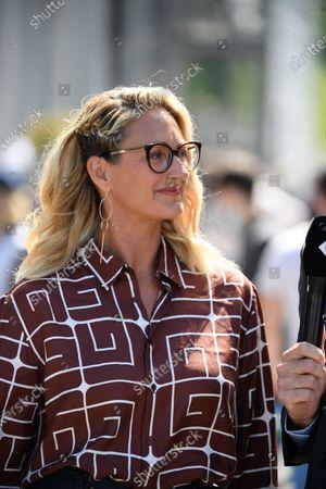 Mary Pierce during Roland Garros 2021.