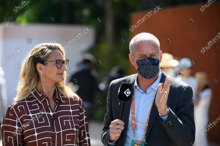 Stock Photo of Guy Forget and Mary Pierce during Roland Garros 2021.