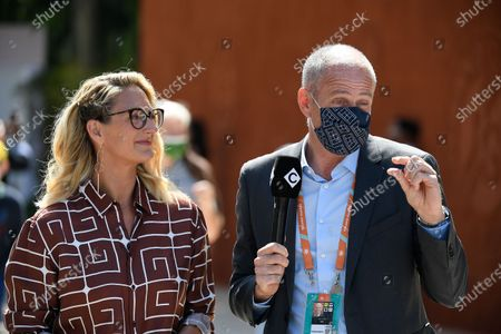 Guy Forget and Mary Pierce during Roland Garros 2021.