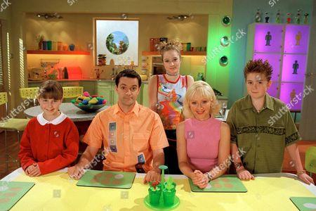 Lucy (Charlotte Francis), Brian (Tony Gardner), Mel (Danielle McCormack), Sophie (Barbara Durkin) and Josh (Alex Kew).