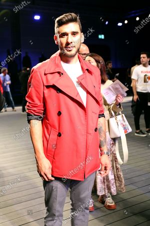 Benfica's Argentine football player Eduardo Salvio poses for a photo at the fashion show of the Portuguese designer Nuno Gama Fall/Winter 2019/2020 during the Lisbon Fashion Week - ModaLisboa Insight at the Carlos Lopes Hall, in Lisbon, Portugal, on March 10, 2019 in Lisbon, Portugal, on March 6, 2019. ( Photo by Pedro Fiúza/NurPhoto)