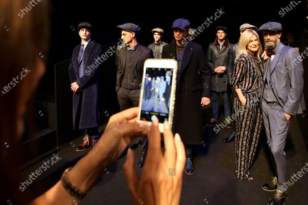 Guests take pictures with the models at the Portuguese fashion designer Nuno Gama Fall/Winter 2019/2020 show during the Lisbon Fashion Week - ModaLisboa Insight at the Carlos Lopes Hall, in Lisbon, Portugal, on March 10, 2019 in Lisbon, Portugal, on March 6, 2019. ( Photo by Pedro Fiúza/NurPhoto)