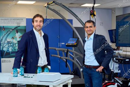Mathieu Flamini, Unity co-founder and Professor M Gulrez Zariwala, Director at the Centre for Nutraceuticals at the University of Westminster