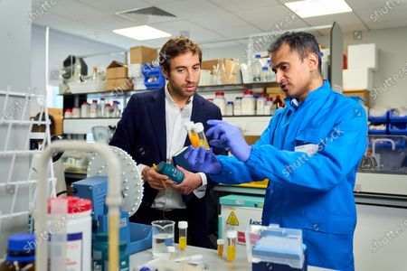 Stock Picture of Mathieu Flamini, Unity co-founder and Professor M Gulrez Zariwala, Director at the Centre for Nutraceuticals at the University of Westminster